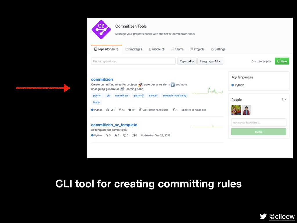 @clleew CLI tool for creating committing rules