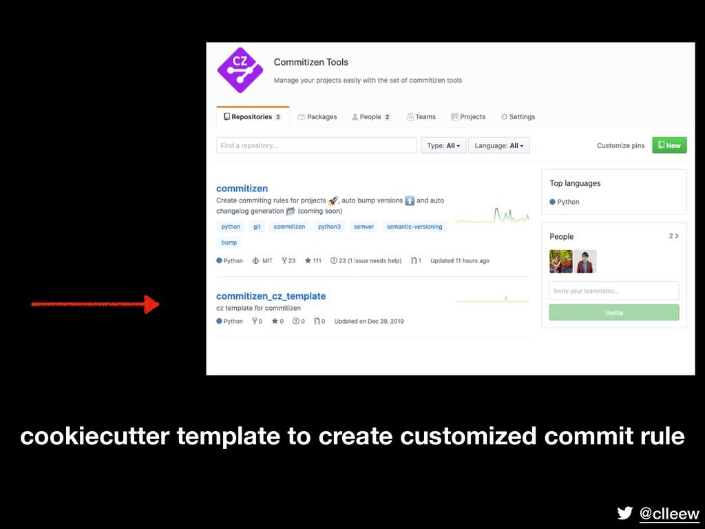 @clleew cookiecutter template to create customi...