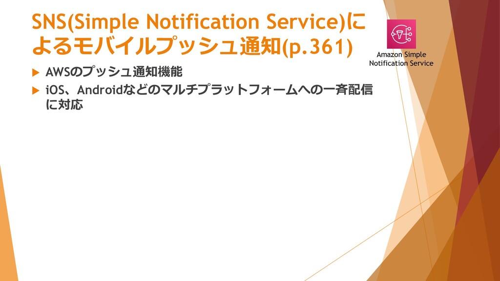 SNS(Simple Notification Service)に よるモバイルプッシュ通知(...