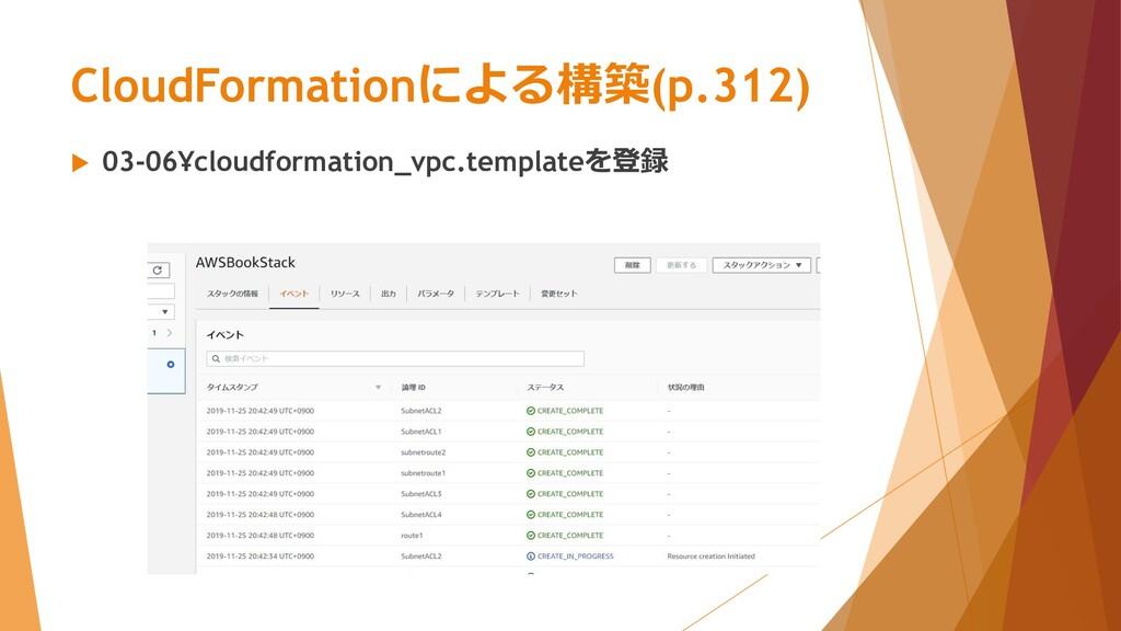 CloudFormationによる構築(p.312)  03-06¥cloudformati...