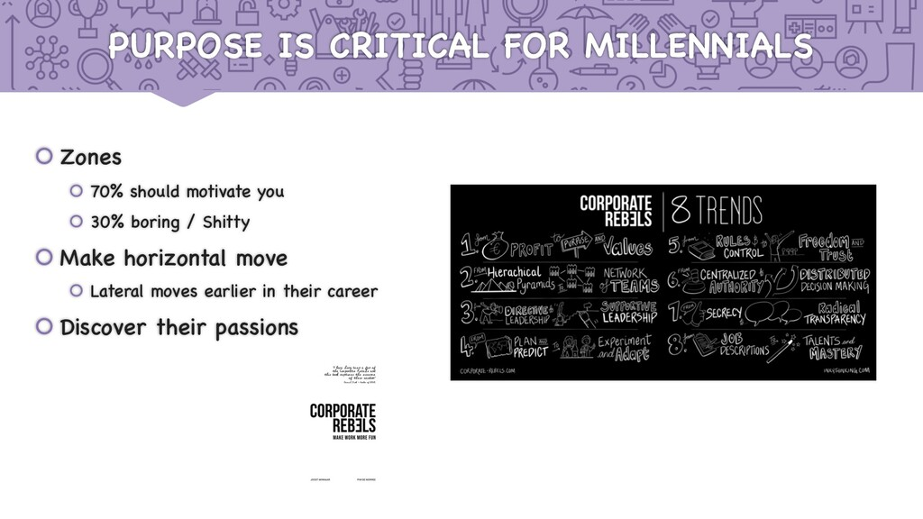 PURPOSE IS CRITICAL FOR MILLENNIALS š Zones š 7...