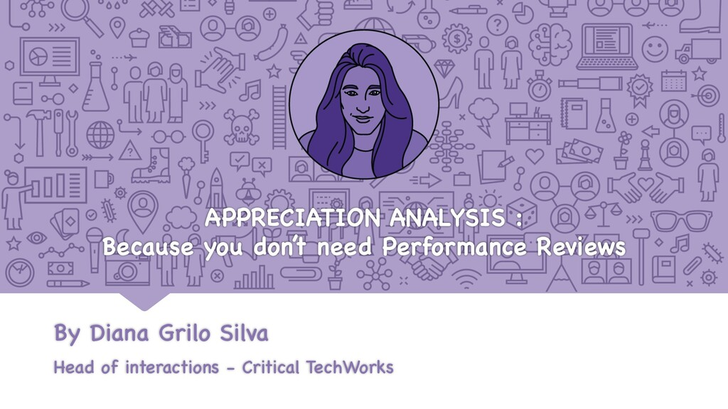 APPRECIATION ANALYSIS : Because you don't need ...