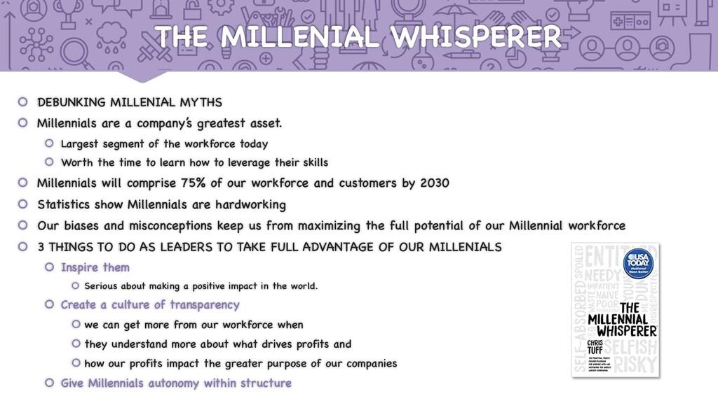 THE MILLENIAL WHISPERER š DEBUNKING MILLENIAL M...