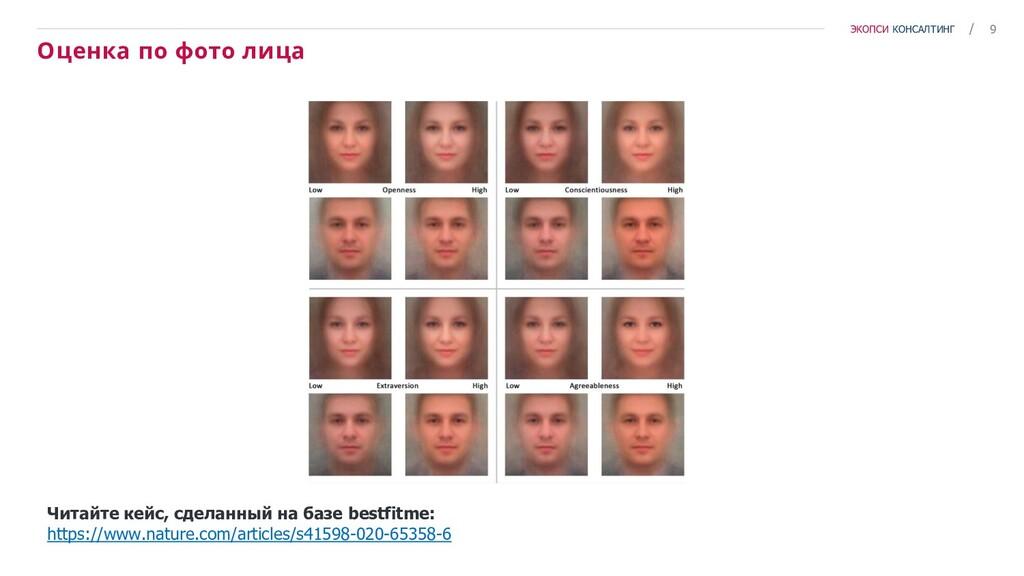 9 / ЭКОПСИ КОНСАЛТИНГ Оценка по фото лица Читай...