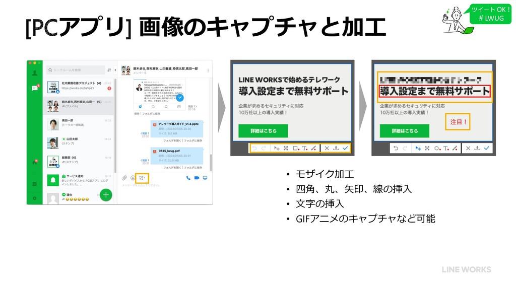 [PCアプリ] 画像のキャプチャと加工 ツイート OK ! #LWUG • モザイク加工 • ...