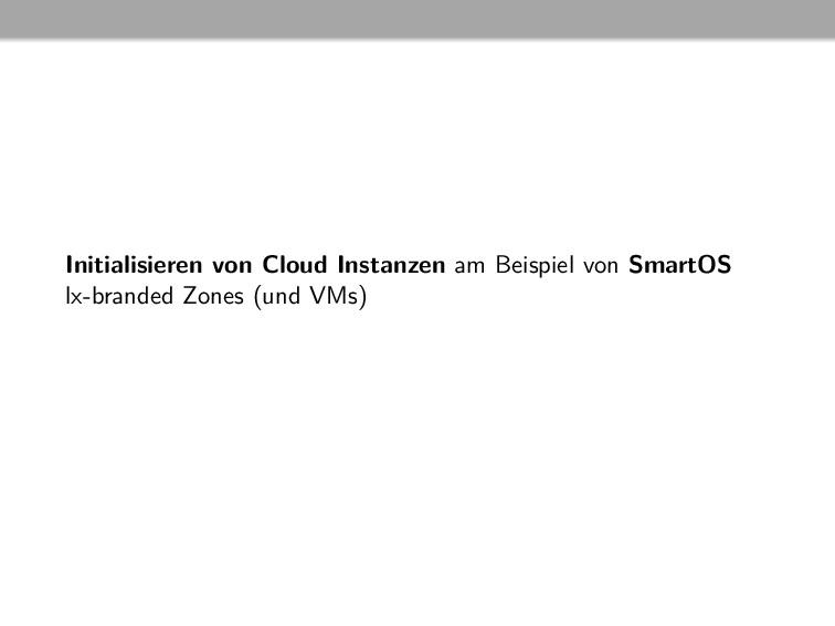 Initialisieren von Cloud Instanzen am Beispiel ...