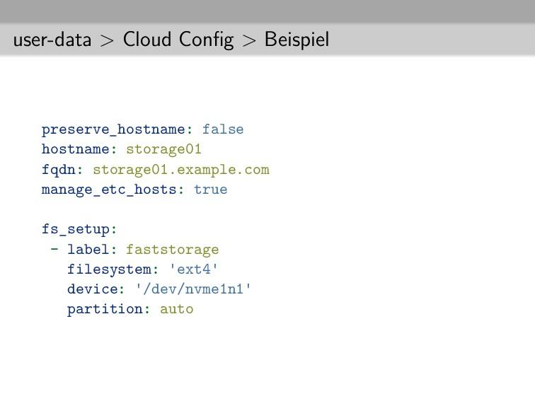 user-data > Cloud Config > Beispiel preserve_hos...