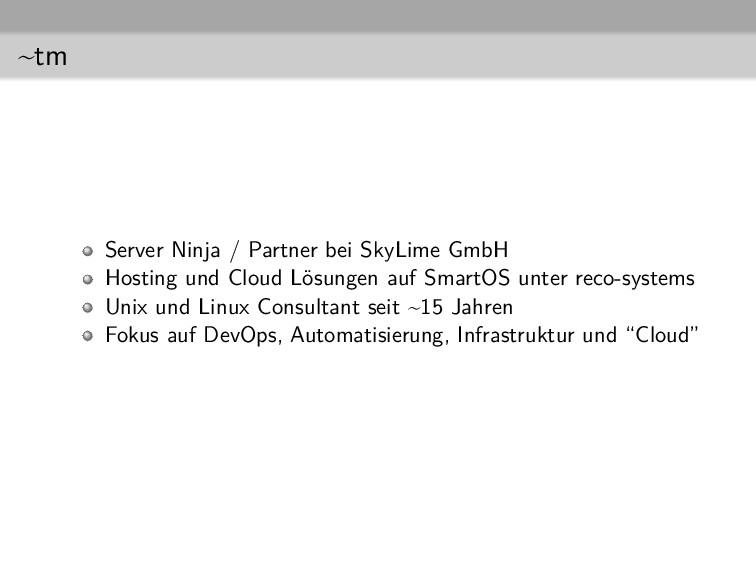 ~tm Server Ninja / Partner bei SkyLime GmbH Hos...