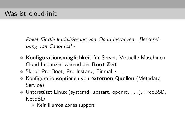 Was ist cloud-init Paket für die Initialisierun...