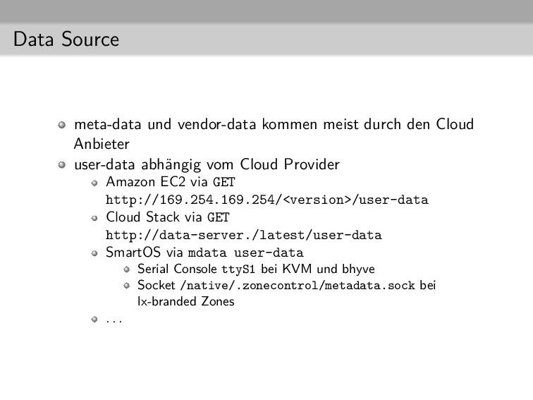 Data Source meta-data und vendor-data kommen me...