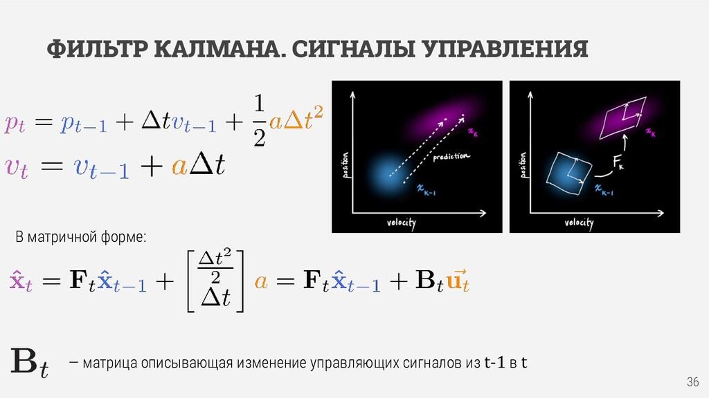 ФИЛЬТР КАЛМАНА. СИГНАЛЫ УПРАВЛЕНИЯ В матричной ...