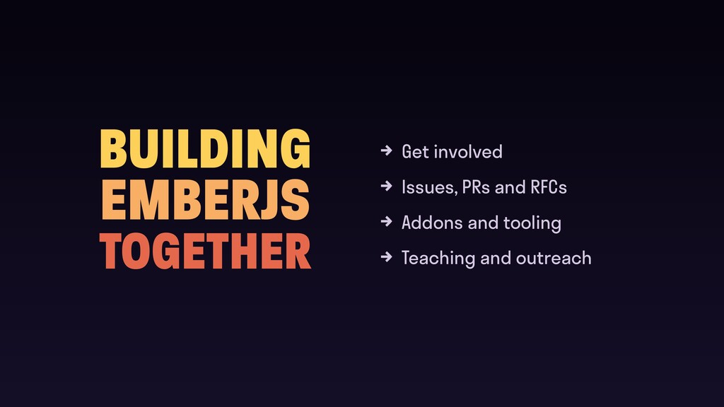 BUILDING EMBERJS TOGETHER Get involved Issues, ...