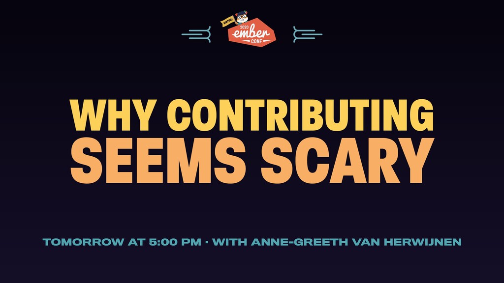 WHY CONTRIBUTING SEEMS SCARY TOMORROW AT 5:00 P...