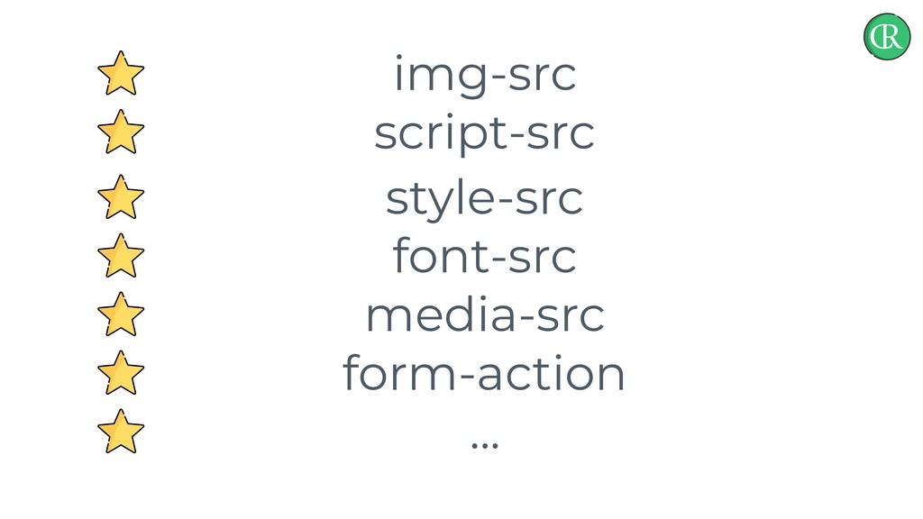 img-src script-src style-src font-src media-src...