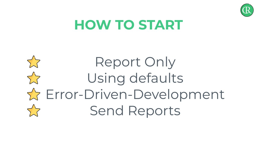 Report Only Using defaults Error-Driven-Develop...