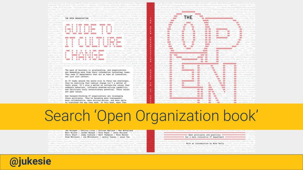 @jukesie Search 'Open Organization book'