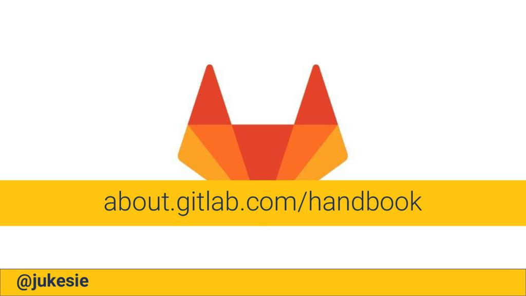@jukesie about.gitlab.com/handbook