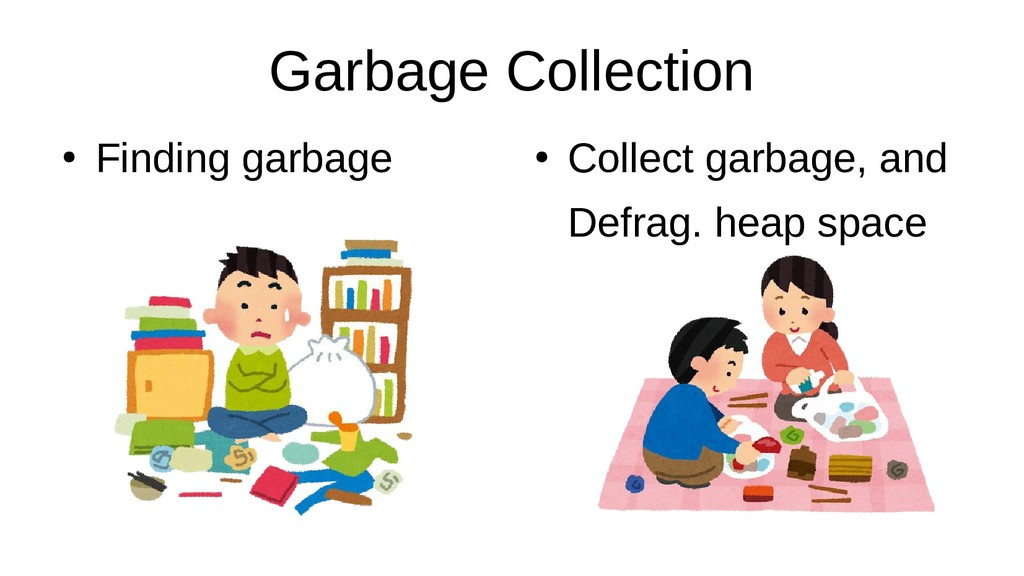Garbage Collection ● Finding garbage ● Collect ...