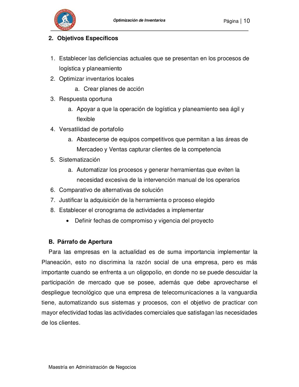 Página   10 Maestría en Administración de Negoc...