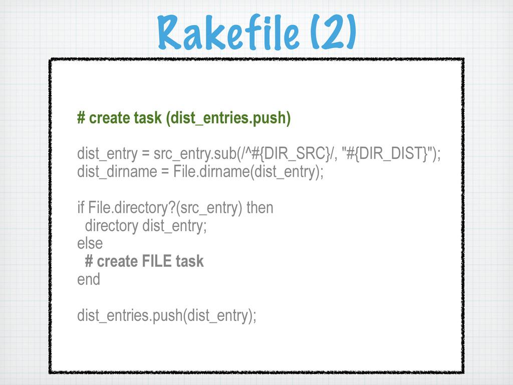 Rakefile (2) # create task (dist_entries.push) ...