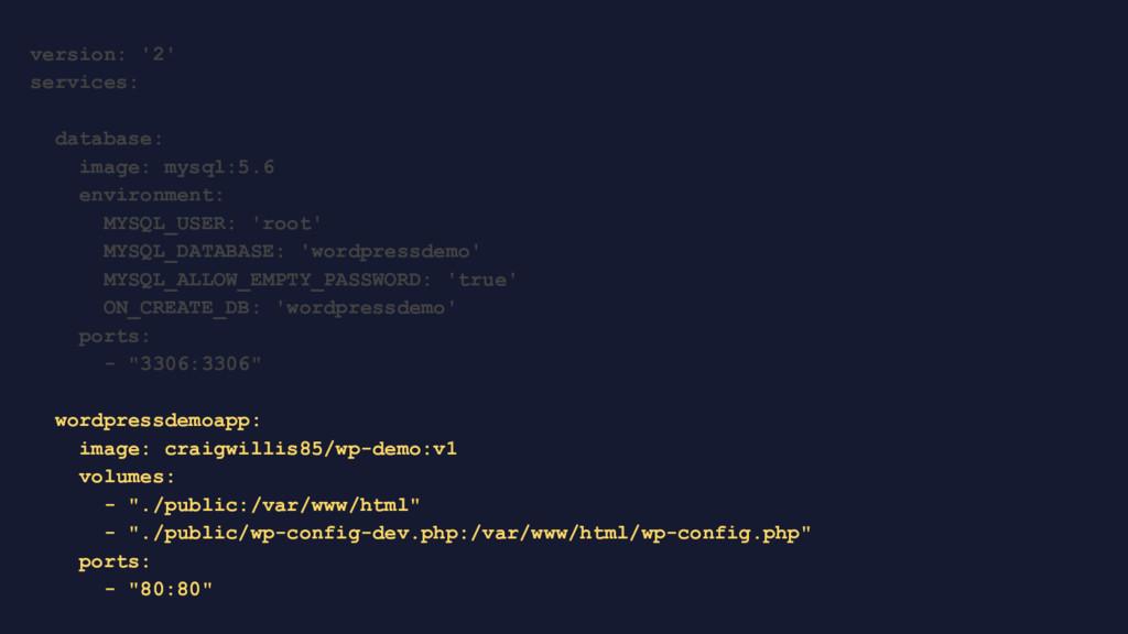 version: '2' services: database: image: mysql:5...