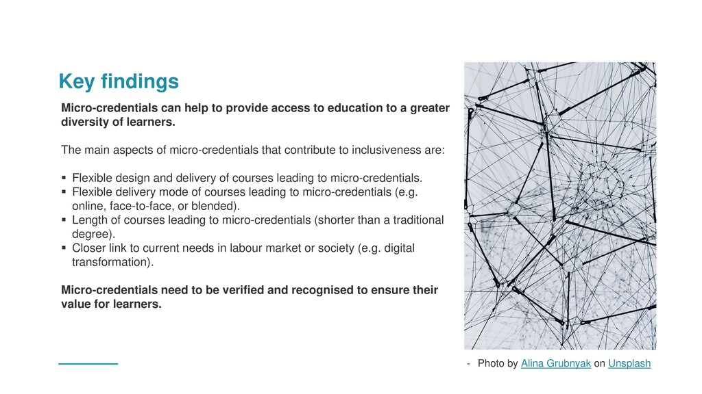 Key findings Micro-credentials can help to prov...