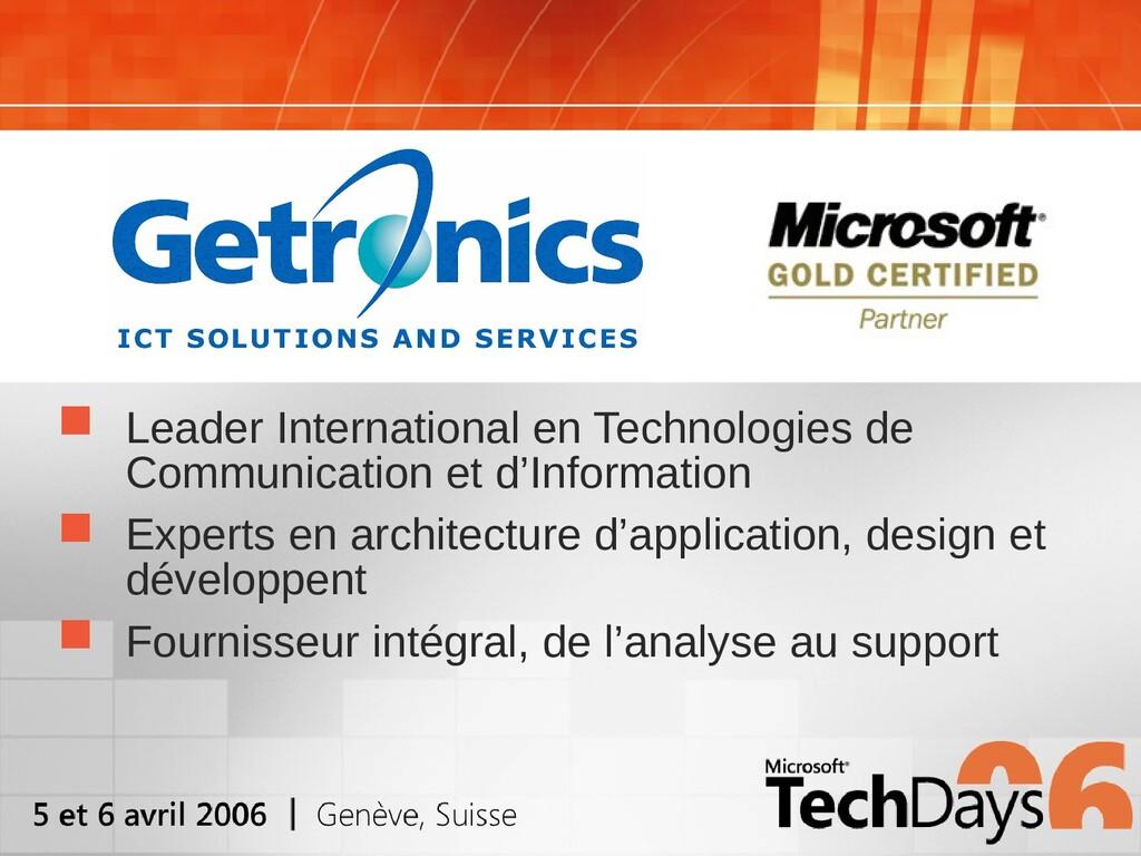  Leader International en Technologies de Commu...