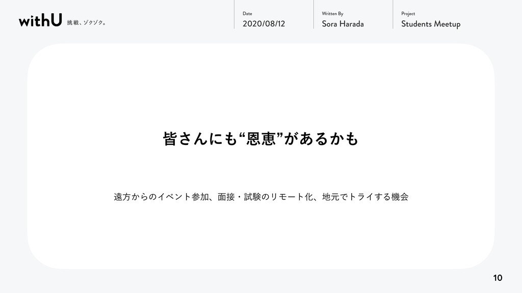 Project Date Written By 2020/08/12 Sora Harada ...