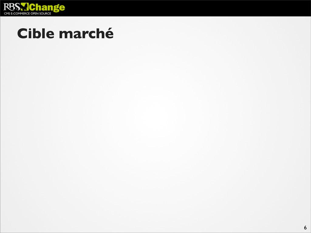 CMS E-COMMERCE OPEN SOURCE 6 Cible marché