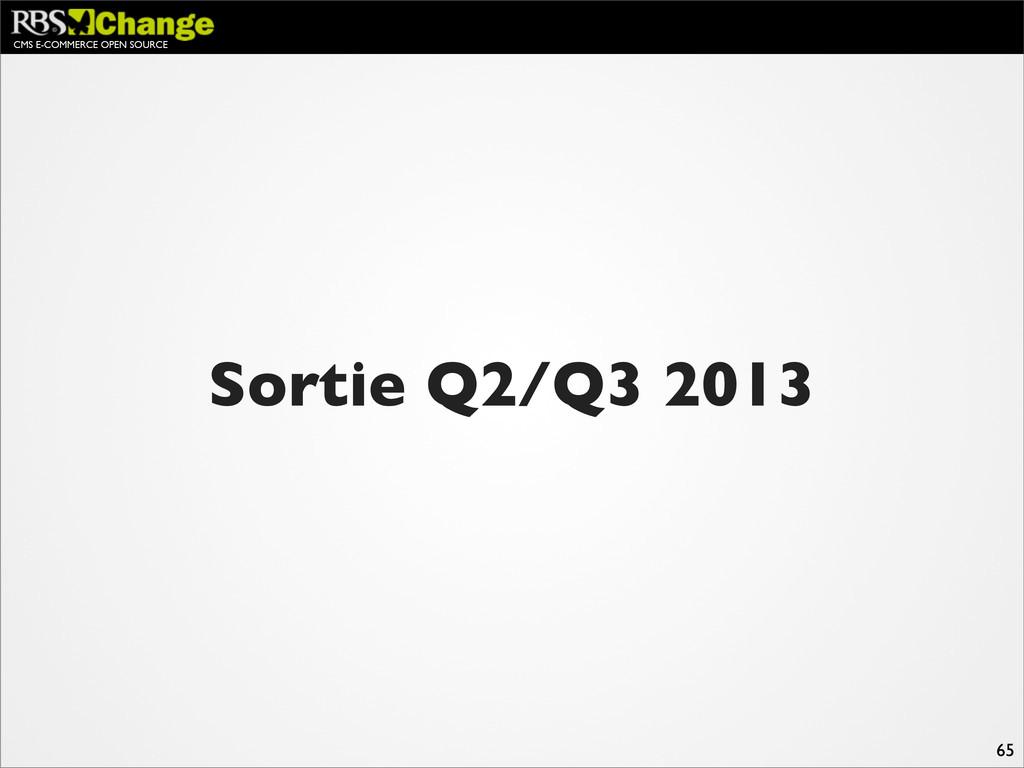 CMS E-COMMERCE OPEN SOURCE 65 Sortie Q2/Q3 2013
