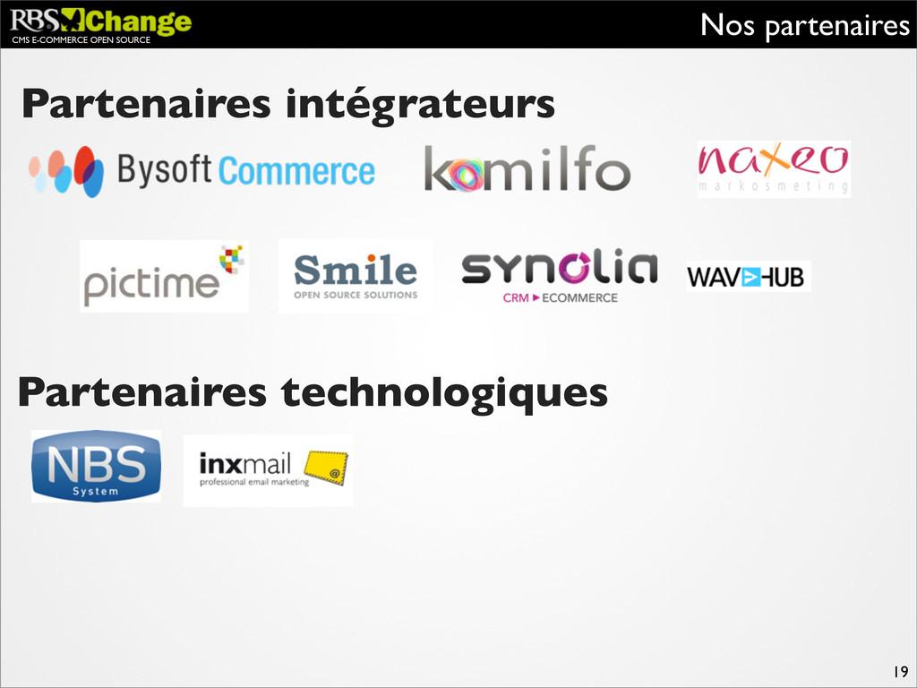 CMS E-COMMERCE OPEN SOURCE Nos partenaires 19 P...