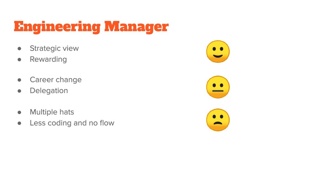 Engineering Manager ● ●    ● ● ● ●