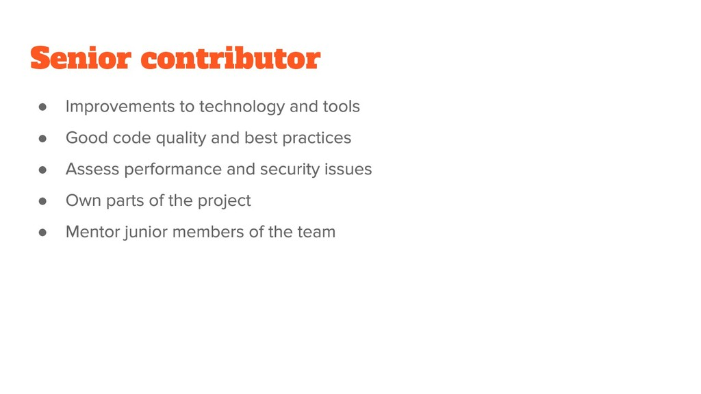Senior contributor ● ● ● ● ●