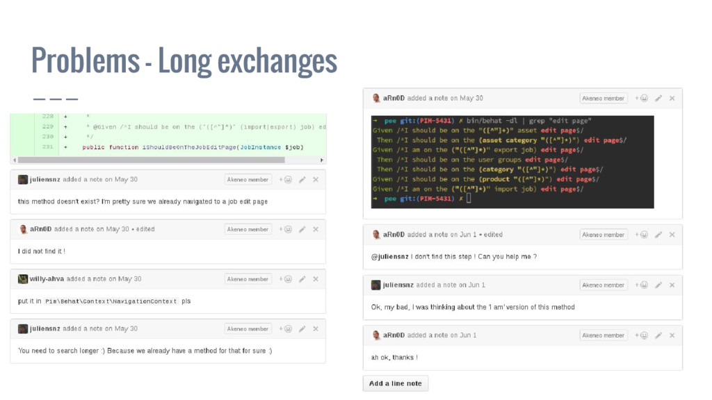 Problems - Long exchanges
