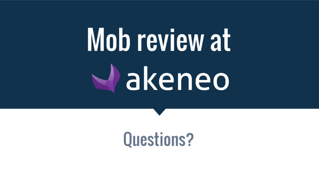 Mob review at Questions?