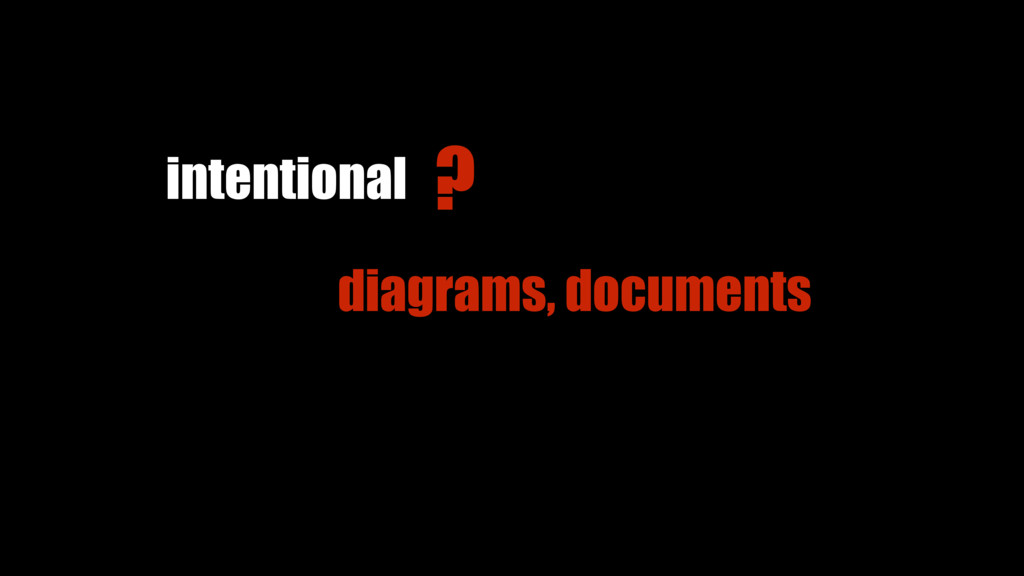 diagrams, documents intentional ?