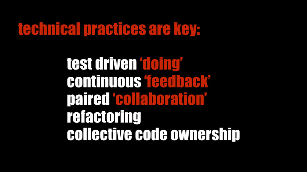 test driven 'doing' refactoring collective code...