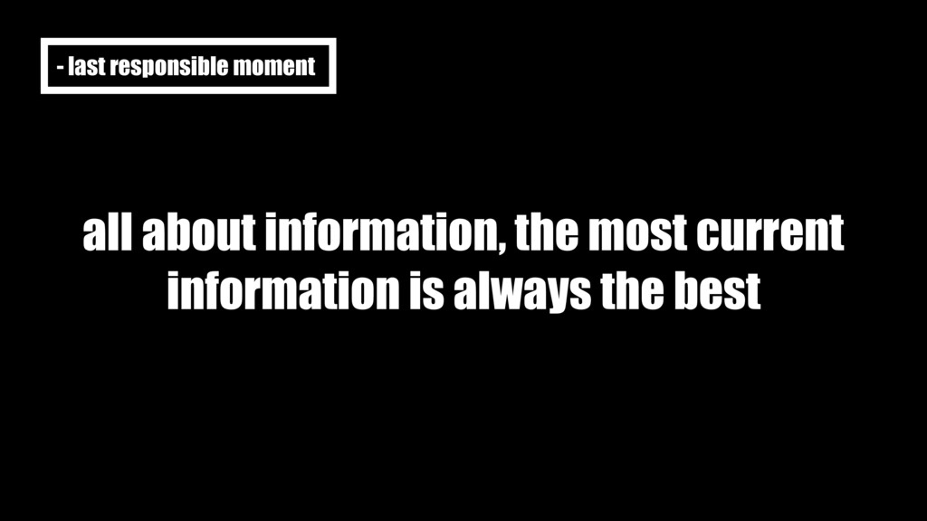 all about information, the most current informa...