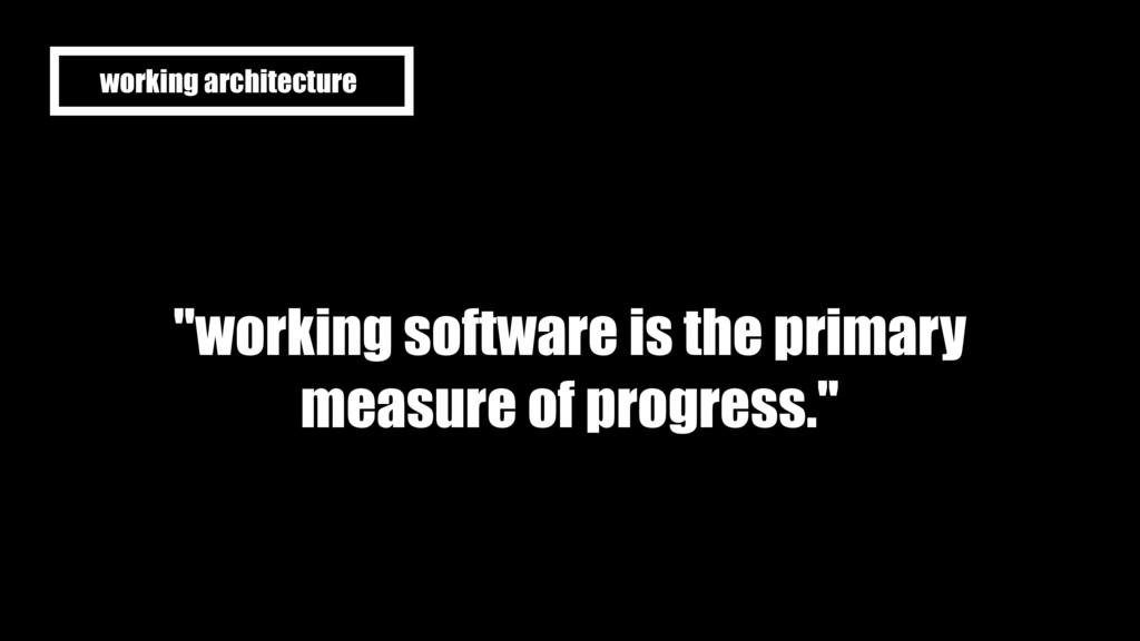 """""""working software is the primary measure of pro..."""