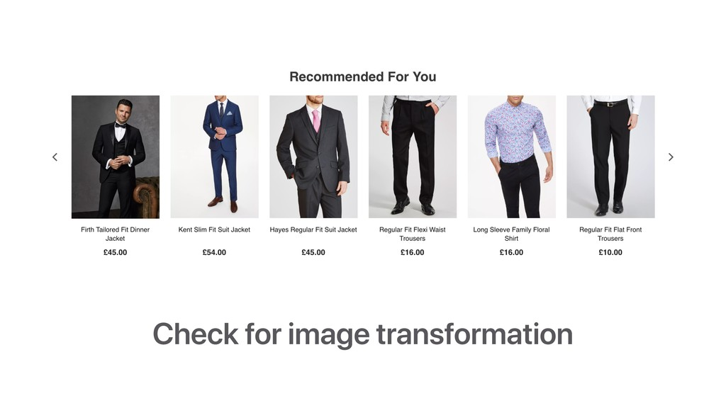 Check for image transformation