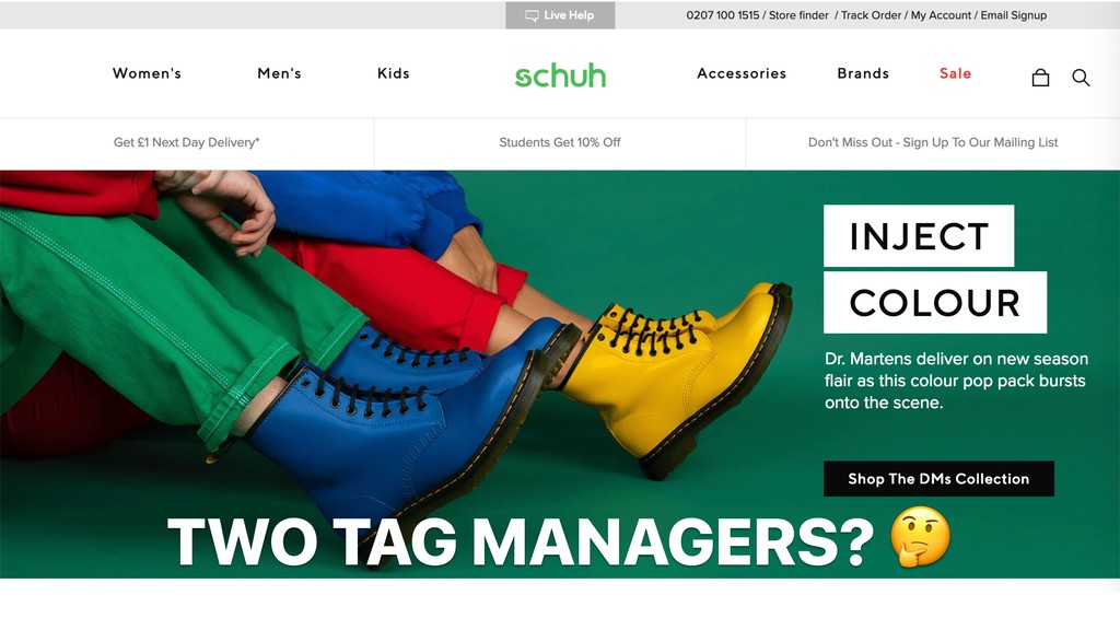 TWO TAG MANAGERS?