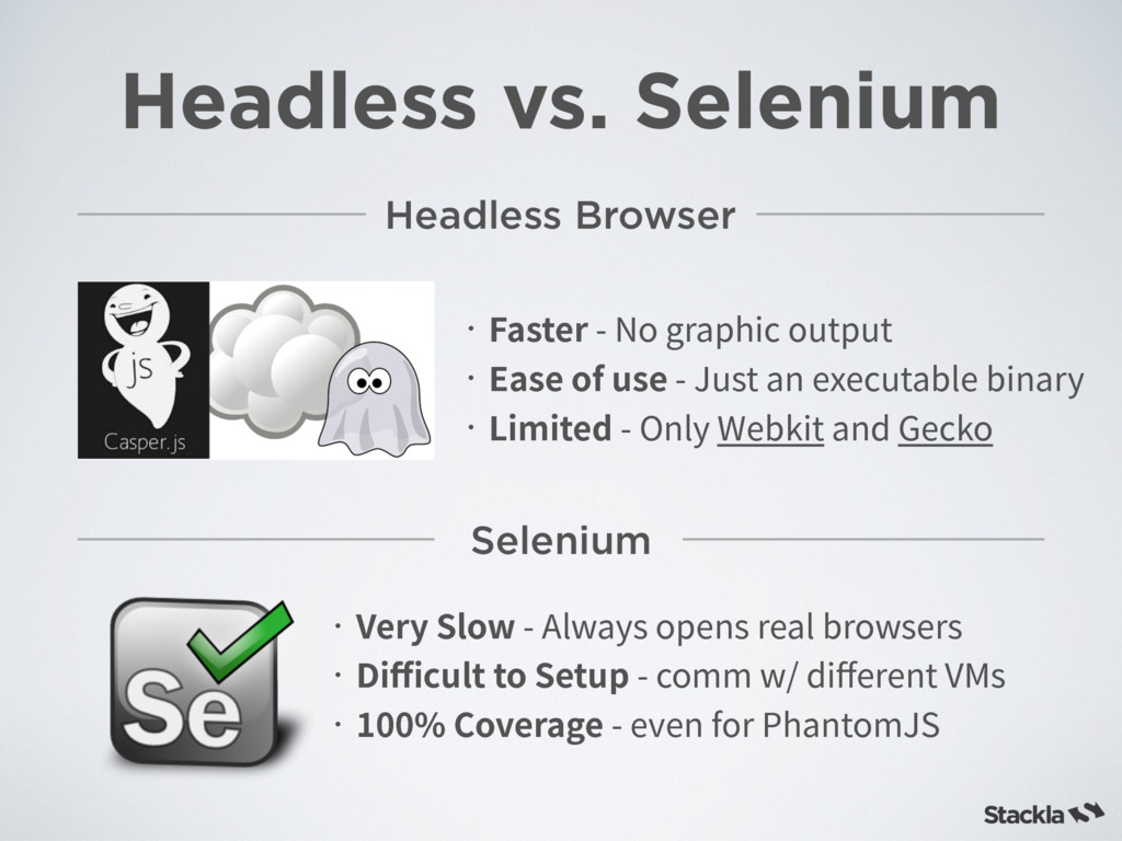 Headless vs. Selenium Headless Browser ˙'BTUFS...