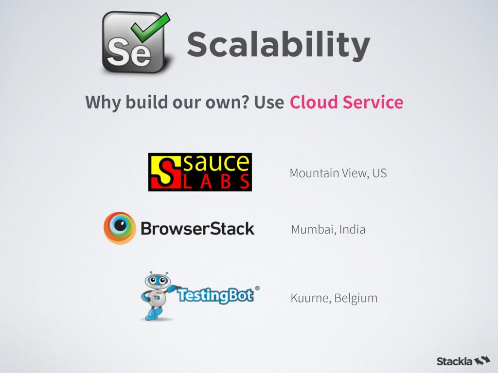 Scalability $MPVE4FSWJDF 8IZCVJMEPVSPXO 6T...