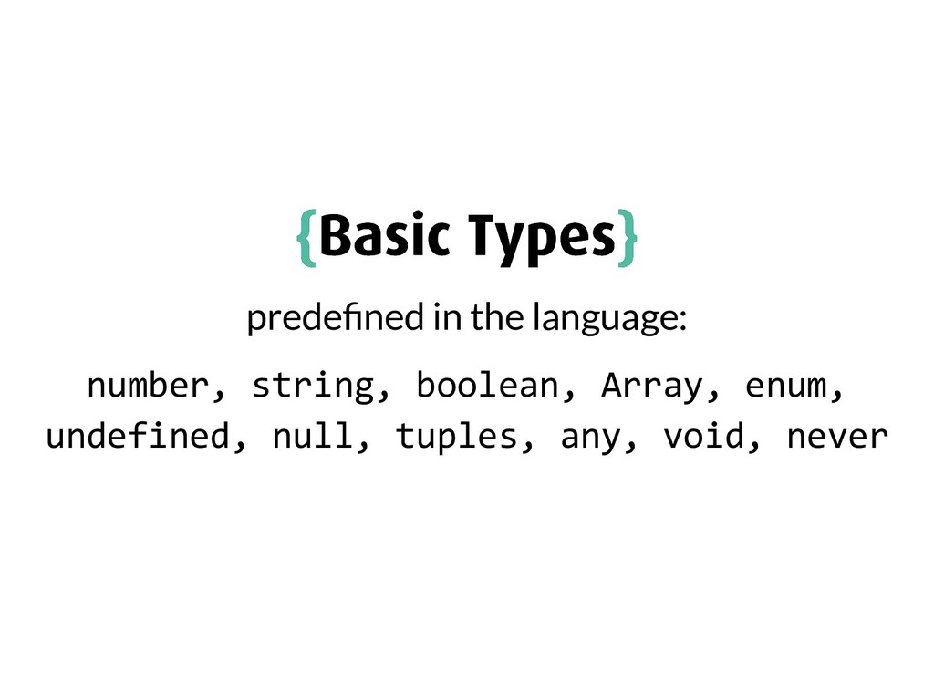 { {Basic Types Basic Types} } prede ned in the ...