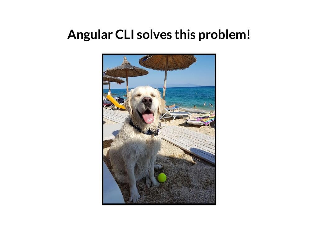 Angular CLI solves this problem!