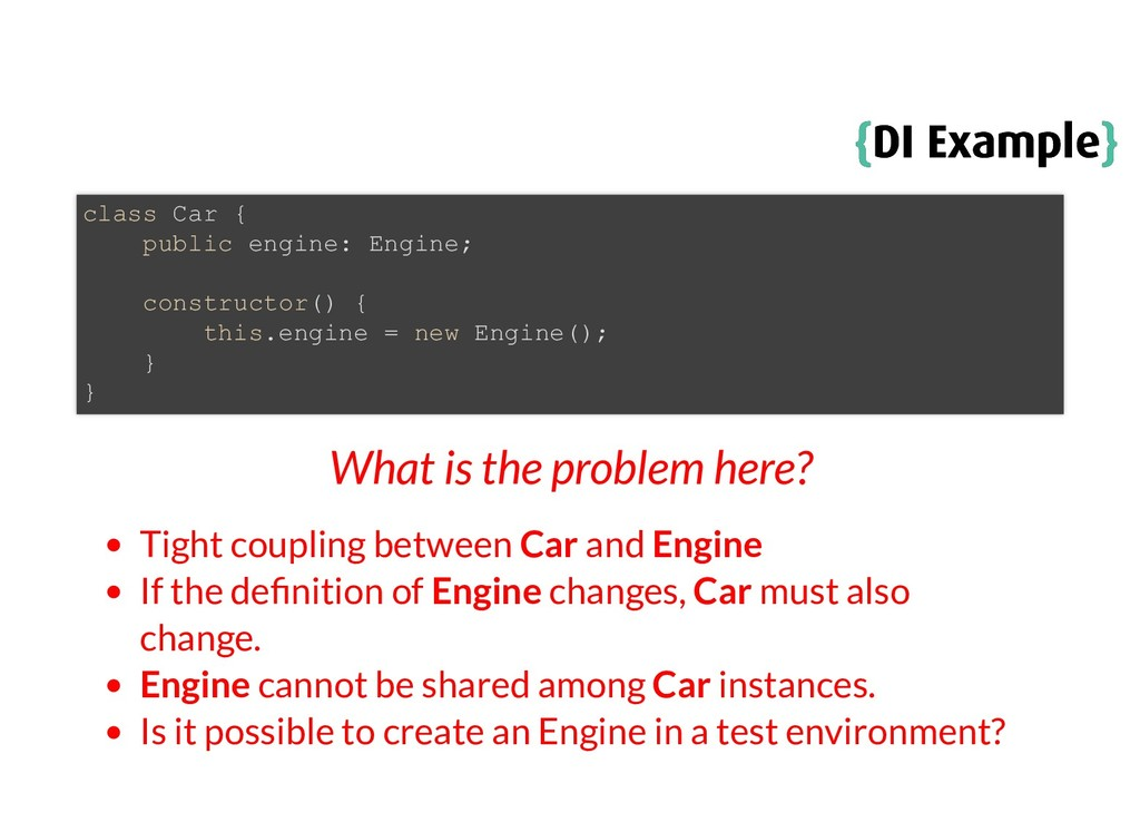 { {DI Example DI Example} } What is the problem...