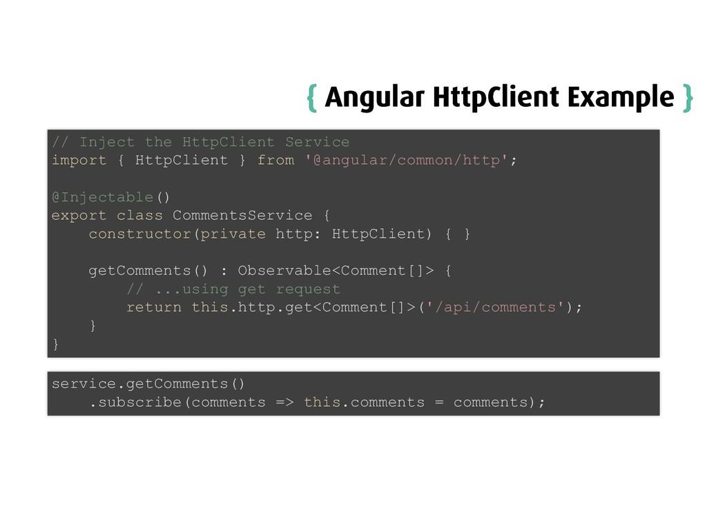 { { Angular HttpClient Example Angular HttpClie...