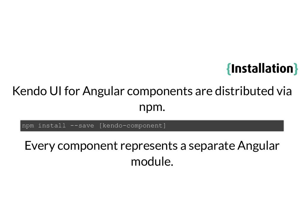 { {Installation Installation} } Kendo UI for An...