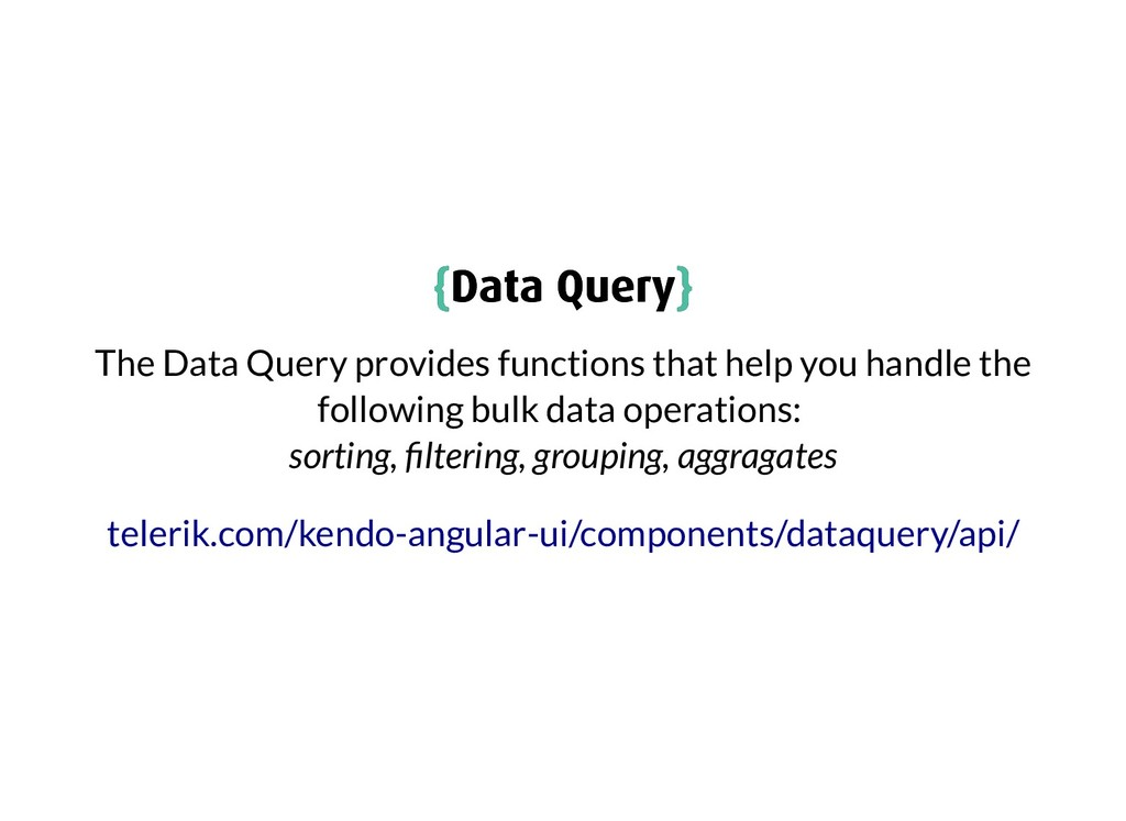 { {Data Query Data Query} } The Data Query prov...