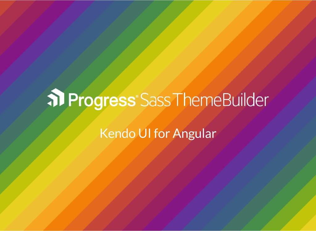 Kendo UI for Angular